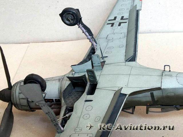 Авиамодель из бумаги Focke Wulf Ta-152H