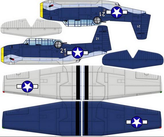 Чертежи авиамоделей - Avenger 72