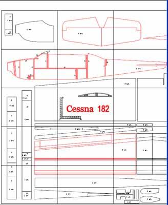 Чертежи авиамодели Cessna 182