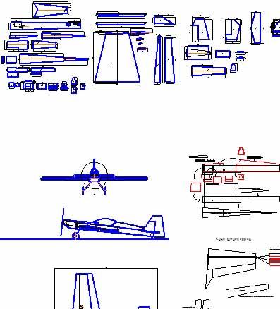 Чертежи авиамодели Катана 3D