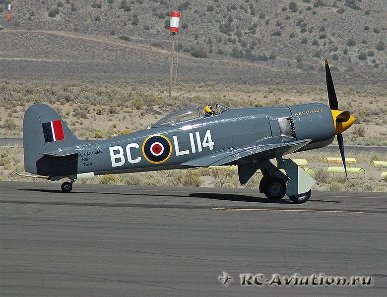 Чертежи авиамодели Hawker Sea Fury
