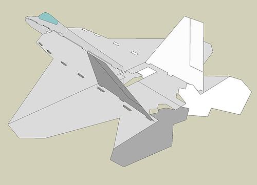 Схема сборки авиамодели F-22