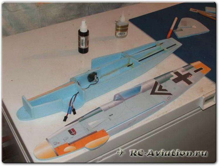 Объемный фюзеляж авиамодели из потолочки (плосколет)