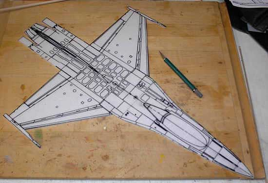 Заготовка для авиамодели