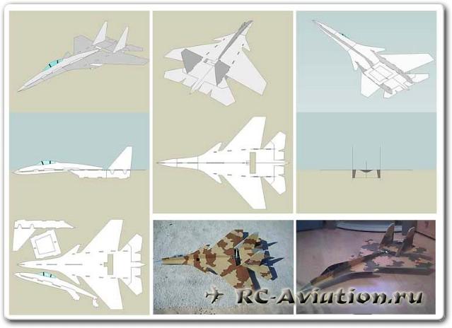 изготовление авиамодели из потолочки