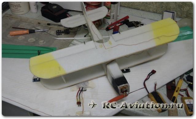 как покрасить модель самолета