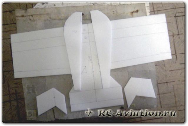 Нарезка потолочки для авиамодели