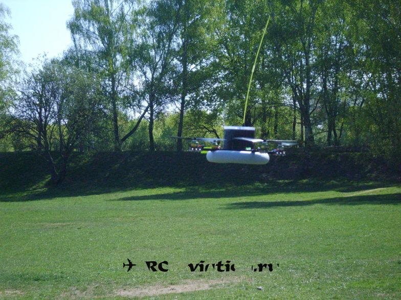полет квадрокоптера