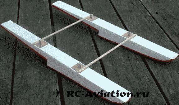 самодельные поплавки для авиамодели из пенопласта
