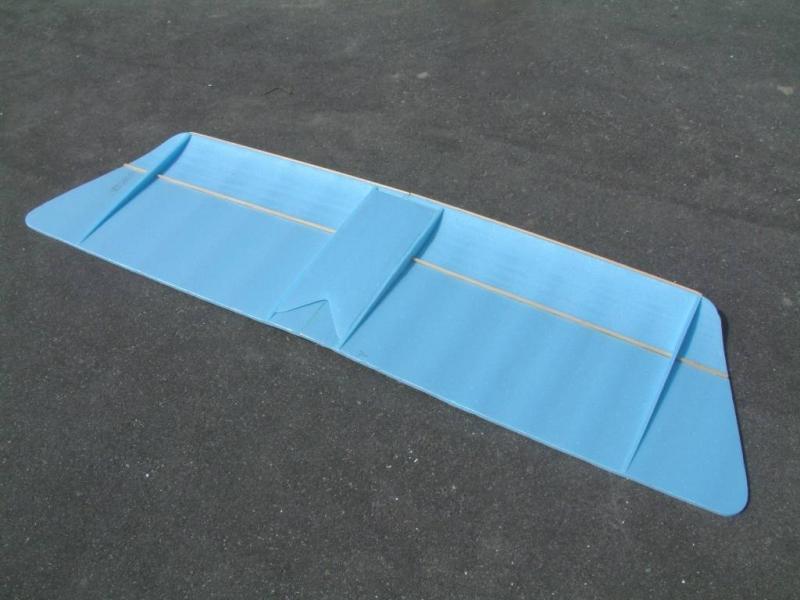 Крыло самодельной авиамодели Slow Stick