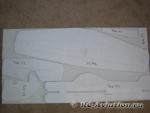 Авиамодель своими руками ЯК-55