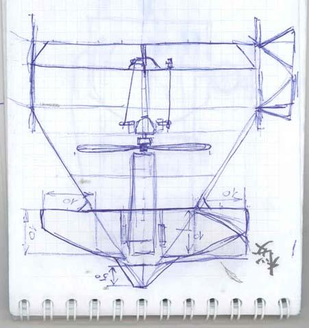 чертеж авиамодели