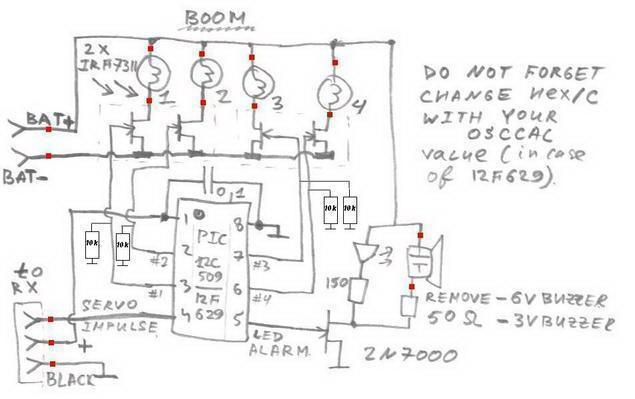 Схема самодельного RC-switch - переключателя для модели