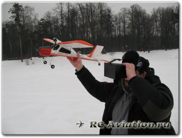 видеошлем для FPV готов к полету на авиамодели